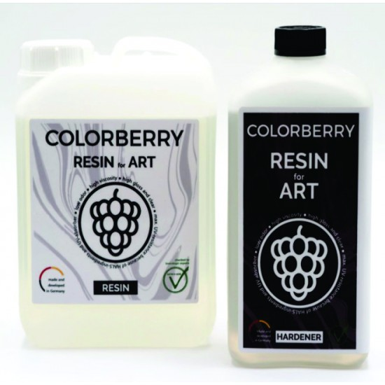 COLORBERRY RESIN for ART (3000ml) - Rasina Epoxidica 2+1